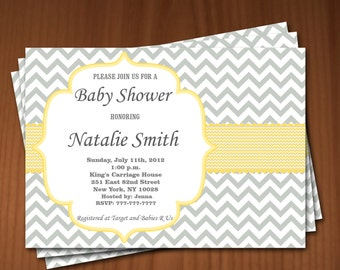 Baby Shower Invitation Girl Baby Shower invitations Printable Baby Shower Invites -FREE Thank You Card - editable pdf Download (580) yellow