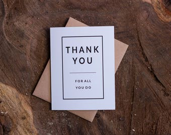 Thank You For All You Do Card Set