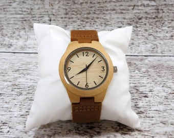 Womens Wood Wrist Watch -Personalized-Accessories for Women- Mothers Day Gift - Gifts for Women - FREE ENGRAVING! (WW1)
