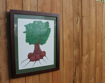 "Framed Beets Original Drawing: 16"" x 20"""