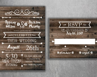 Wedding invitations etsy nz country wedding invitations rustic wedding invitation burlap kraft wood affordable filmwisefo Choice Image