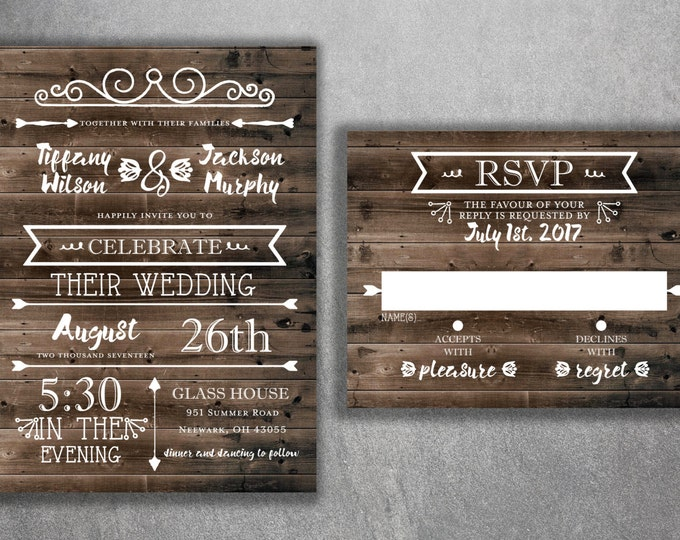 Country Wedding Invitations, Rustic Wedding Invitation, Burlap, Kraft, Wood, Affordable, Vintage, Outside, Cheap, Southern, Wedding Invite
