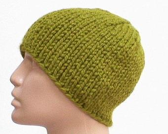 Citrus kiwi green beanie hat, skull cap, winter hat for men women, green knitted hat, toque, green hat, mens womens knit hat, beanie hat