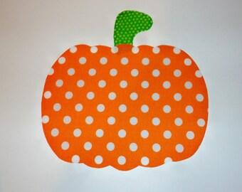 Iron On Applique PUMPKIN Halloween Fall Or Harvest