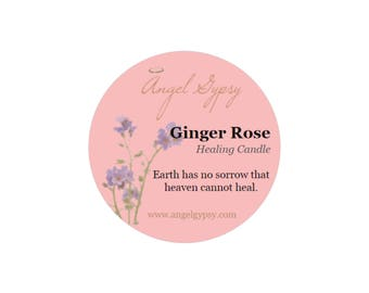 Ginger Rose Healing Candle