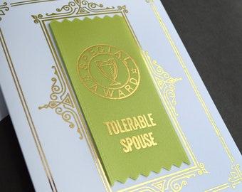 Tolerable Spouse Ribbon Card