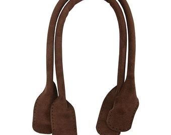 """Somerset Designs (for Joann's Fabrics) Suede Purse Handles - Pre-Stamped Holes- Rich Dark Brown - 18"""" long - FREE SHIPPING!"""