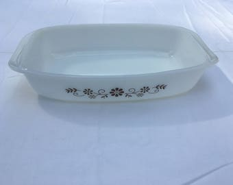 Vintage Dynaware Small Rectangle Milk Glass Dish
