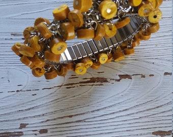 Mustard yellow cha cha bracelet