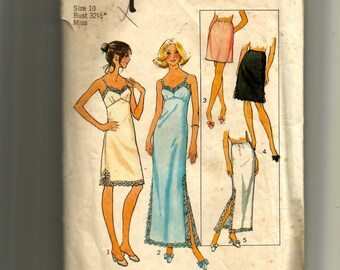 Simplicity Misses' Slips and Half Slips Pattern 7069