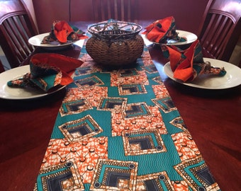 African Print Table Runner \u0026 Napkin Sets : table runner and napkin set - pezcame.com