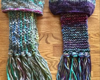 Hand Knit Hat and Scarf