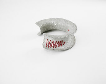 STITCHED BRACELET. Silver bracelet of law. The texture collection silver bracelet. Silver bracelet