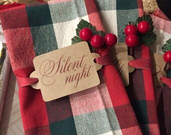 Holiday napkin wraps