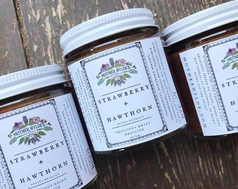 Strawberry Hawthorn Solids Extract Mother Hylde's Herbal preserves jelly jam heart cardiovascular support 4oz