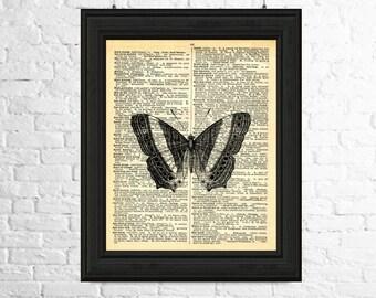 Butterfly Wall Art, Butterfly Art Print, Dictionary Page Art, Insect Print, Butterfly Poster, Insect Wall Art, Printable Art