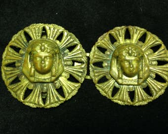 Antique belt buckle - Egyptian style with sphinx head