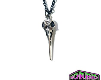 Gothic Plague Doctor Mask Black Chain Necklace