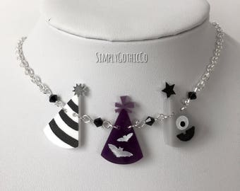 Limited Edition- Gothic Triple Party Hat Necklace