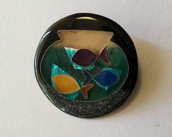 Glass Fish Bowl Pin