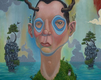 REINTEGRATION, pop surrealism, lowbrow, trees, environmentalist, funky, weird, new contemporary, surreal, surrealism, water, treehugger