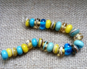 Handmade Glass Lampwork Beads - Multicolor spacers