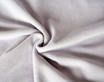 Lavender velour fabric in organic cotton. Organic velvet fabric in mauve by the 1/2 meter (50 cm).