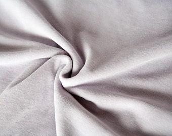 Lavender velour fabric in organic cotton. Organic velvet fabric in mauve by the 1/2 meter (50 cm).