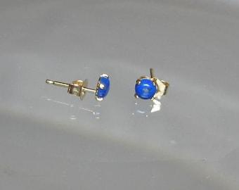Lapis lazuli stud earrings in sterling silver nAvHPOpXB