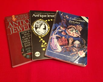 Vintage Jewelry Books 3 Collectible Jewelry Books Buyers Guide Antique Jewelry Collectible Jewelry