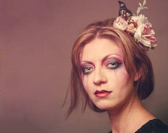 Nevermore Raven Flower Crown