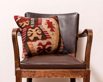 Paypal, kilim pillow, Turkish kilim pillow, Decorative pillow, Cushion cover, Area pillow, Kilim rug pillow, 16x16 inches, 40x40 cm