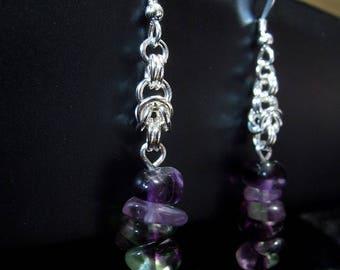 Byzantine Fluorite earrings