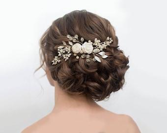 Wedding hair piece, wedding headpiece, Wedding hair comb, Pearl Hair Comb, Bridal Hair Comb, Bridal Hair Piece