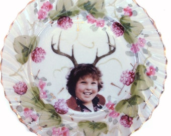SALE - Damaged - Deer Ol' Chunk Portrait Plate 7.25""
