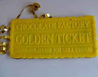 Golden Ticket Chocolate Candy-Willie Wonka/Charlie And The Chocolate Factory/Candy/Birthday Party Theme