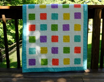 Polka Dot Squares Quilt by Made Marion