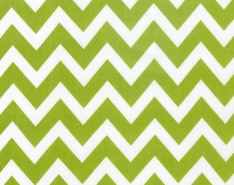 Lime Green Remix Chevron From Robert Kaufman