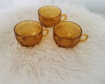 Vintage Indiana Tiara Teacups- Set of 3