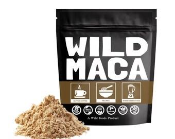 Wild Maca Powder, Organically Grown Raw Maca Root Mayan Superfood