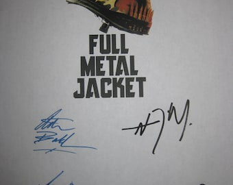 Full Metal Jacket Signed Film Movie Script Screenplay Autograph X6 R. Lee Ermey Matthew Modine Vincent D'Onofrio Adam Baldwin John Terry