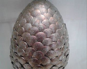 Silver shimmer Dragon Egg