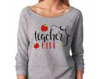 Teacher Life Slouchy long sleeve comfy tee