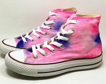 Galaxy Custom Hand Painted Converse Sneakers