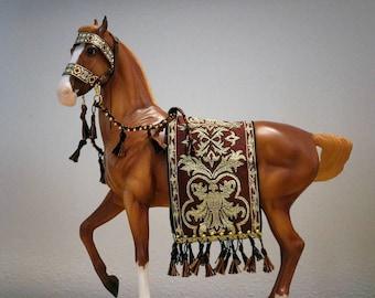 Sewn! OOAK BREYER Marwari Decorative Celebration Tack. Festival, parade. Ethnic, native, Indian. Traditional 1:9 Scale