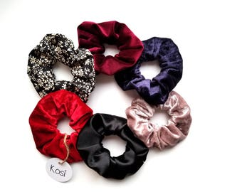 Scrunchie, hair, velvet, cotton, scrunchies, hair elastic