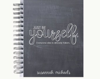 Bullet Journal – Personalized   Spiral   Dot Grid   Notebook   Chalk Be Yourself