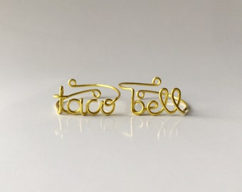 Taco Bell Ring | Taco Ring | Taco Belle Ring | Fast Food Ring | Adjustable Ring Set
