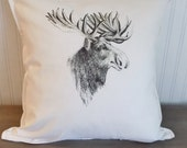 Moose Head Pillow Cover 2...