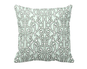 Green Throw Pillow Cover Light Green Pillow Cover Trellis Pillows Lattice Pillows Decorative Pillows for Couch Euro Pillows Green Pillowcase